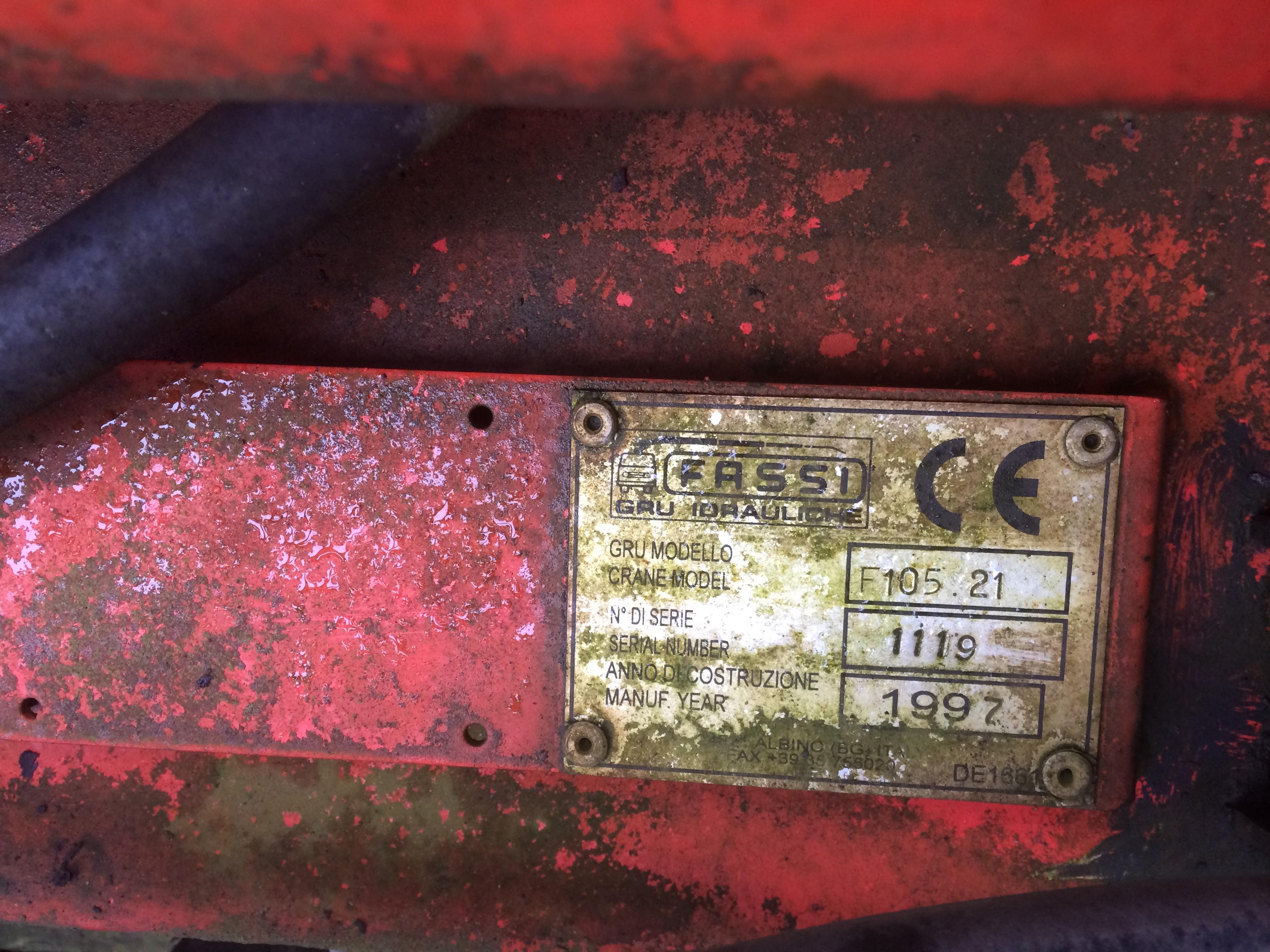 Продажа гидроманипулятора FASSI F105(97) БУ