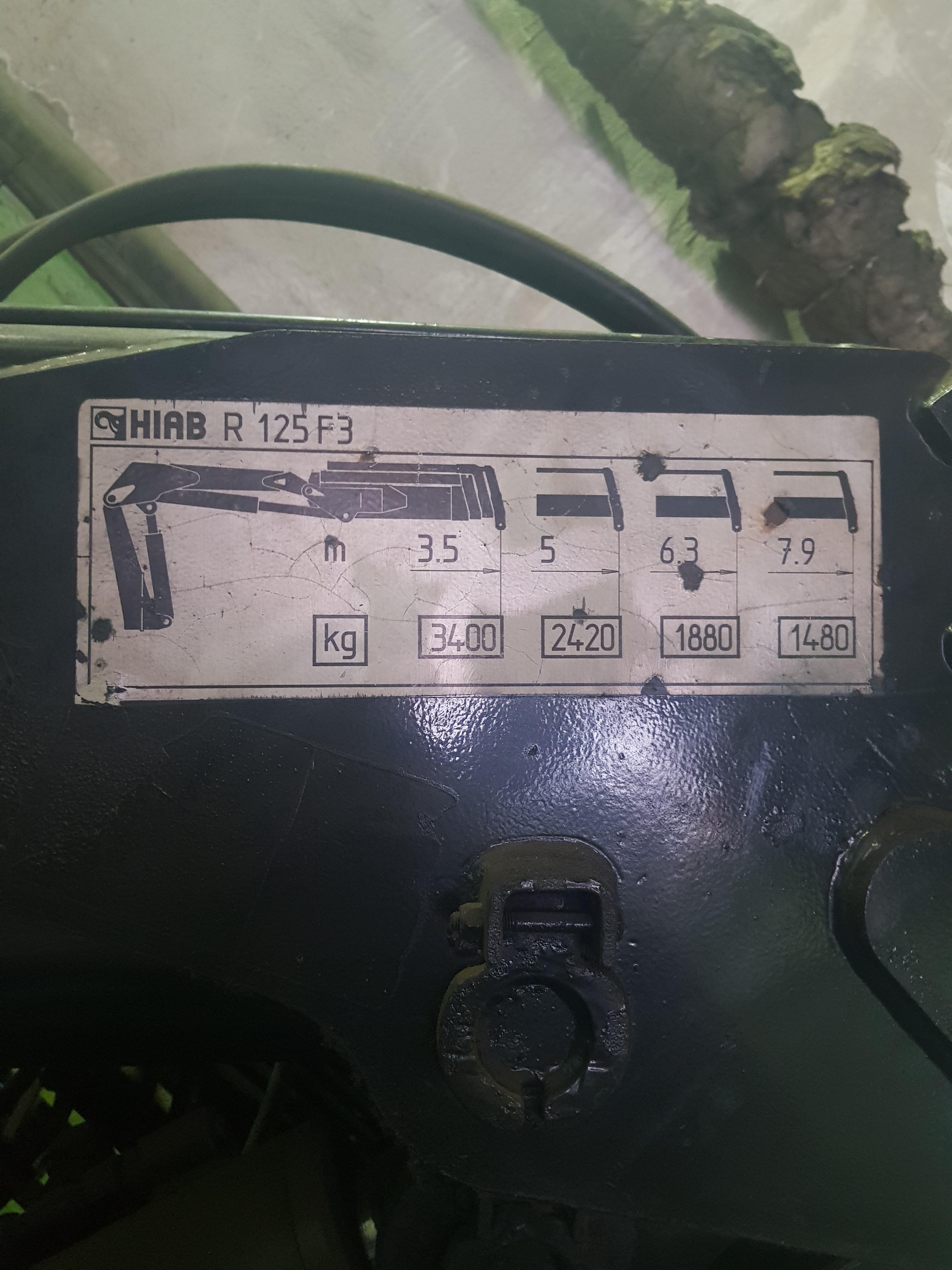 Продажа гидроманипулятора HIAB R 125 F3 (2001) БУ